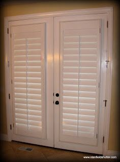 Plantation Shutters For French Doors What These For My Sliding Glass Doors No More Curtains