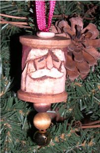 Vintage Wooden Spool Christmas Ornaments