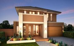 Metricon Homes: Salamanca 34 - Oakpark Facade. Visit www.allmelbournebuilders.com.au for all display homes and building options in Victoria