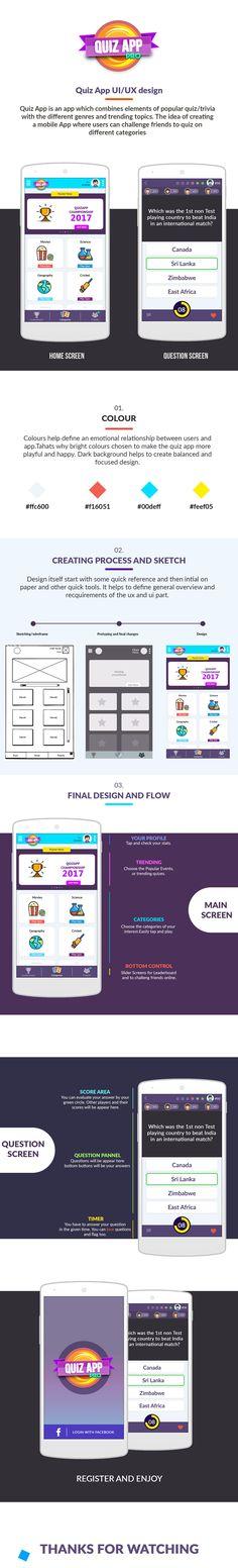 QuizApp UI/UX design A multiplayer quiz game with different categories.  Link: https://www.behance.net/gallery/51241923/QuizApp