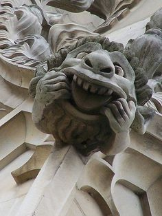The History of Gargoyles & Grotesques (Facts, Information, Pictures) - Going To Tehran Gravure Photo, Gothic Gargoyles, Canterbury Cathedral, Architectural Sculpture, Stone Statues, Gothic Architecture, Dragon Art, Green Man, Stone Carving