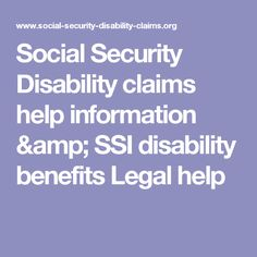 Disability  Ssi Disability Benefits