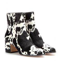 Gianvito Rossi - mytheresa.com Exclusive pony-hair ankle boots - mytheresa.com