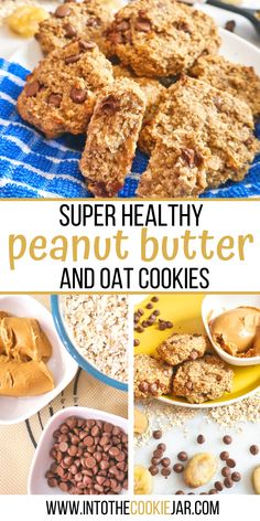 These peanut butter and oat cookies are easy to make and super healthy cookies for breakfast. Make these oat and peanut butter cookies with just 4 ingredients and 10 minutes. These breakfast cookies are made with either crunchy or creamy peanut butter and great cookies to make with kids. Oatmeal Breakfast Cookies, Banana Oatmeal Cookies, Oat Cookies, Oatmeal Cookie Recipes, Best Cookie Recipes, Sugar Cookies Recipe, Healthy Cookies, Making Peanut Butter, Best Peanut Butter Cookies