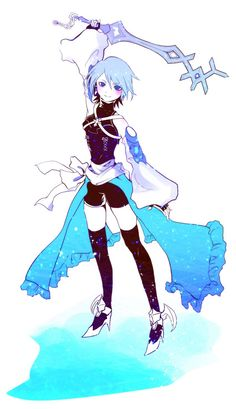 Aqua from Kingdom Hearts. I love her! She's freakin' awesome!!!