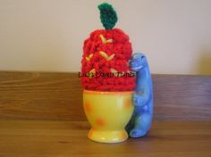 Handmade Strawberry Egg Cosy by LisasLovelyThings on Etsy