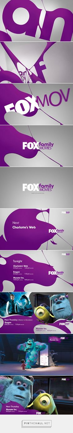 FOX FAMILY MOVIES BRANDING PITCH on Behance - created via https://pinthemall.net