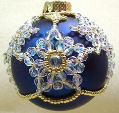 Tatted/beaded ornament.