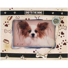 """Fotolijst """"Bad to the Bone"""" Schattig fotolijstje voor je hond """"Bad to the Bone"""" maar je kunt er natuurlijk ook een foto van je ex-vriend in bewaren."""
