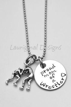 Items similar to Personalized sports necklace or bracelet - See ALL PHOTOS! - Charm choice photo - Basketball player - Football Mom - Mother of Wrestler on Etsy Stainless Steel Washers, Wrestling Mom, Sports Mom, Proud Mom, School Colors, Basketball Players, Ball Chain, Hand Stamped, Roman
