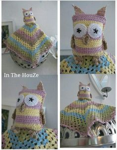 crochet owl Owl Crochet Patterns, Owl Patterns, Crochet Hats, Knitting Hats