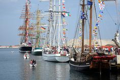 Sail ships in Port of Aveiro, Portugal, Funchal 500 Race 2008