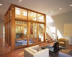 Cube House modern living room