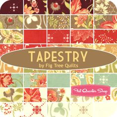 Tapestry Jelly Roll Fig Tree Quilts for Moda Fabrics - Fat Quarter Shop - Postage Stamp Quilt? Scrappy Quilts, Baby Quilts, Quilting Room, Quilting Fabric, Postage Stamp Quilt, And So It Begins, Quilt Material, Origami, Tree Quilt