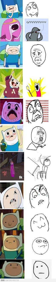Memes in Adventure Time. I was soooo hoping someone had made this!