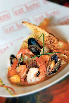 Seafood Stew From Eat Here Located Downtown Sarasota Siesta Key Fl