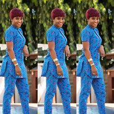 Trending and Stylish ankara trousers and top trend of all times, These ankara trousers are meant to make you look fabulous in your favorite African fabric African Fashion Ankara, African Fashion Designers, Latest African Fashion Dresses, African Dresses For Women, African Print Dresses, African Print Fashion, African Attire, African Wear, African Traditional Dresses