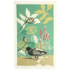 DUCK WITH TEASELS TEA TOWEL