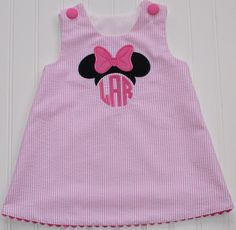 Hey, I found this really awesome Etsy listing at https://www.etsy.com/listing/223810319/monogrammed-minnie-mouse-dress