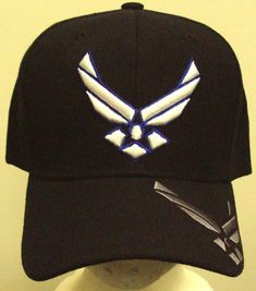 853ebbdeaf5 New embroidered u.s. air force usaf wings insignia logo emblem cap hat navy  blue