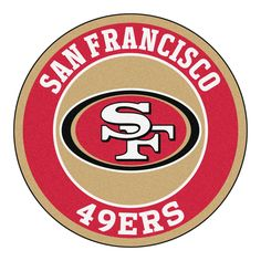 The Fan Mats NFL Football Round Indoor Area Rug - diam. is an easy way to display your team pride. This durable round rug has a nylon face. Nfl 49ers, 49ers Fans, Nfl Fans, Nfl Football, American Football, Football Crafts, Football Stuff, Football Season, Mustang