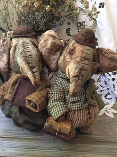 Купить Слоник - слоник, слоненок, слоник тедди, мамонтенок, наполнитель холофайбер, плюш винтажный, хлопок