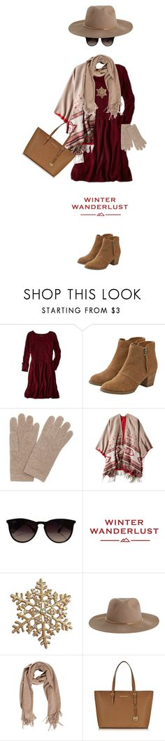 """""""Winter Wanderlust with American Eagle: Contest Entry"""" by lisadcruciani ❤ liked on Polyvore featuring American Eagle Outfitters, Portolano, Ray-Ban, Zimmermann, Michael Kors and aeostyle"""