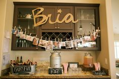 Bria's first birthday party - adorable decor and drinks - Anna Kim Photography