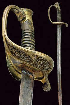 An officers sabre, France, 19th century.