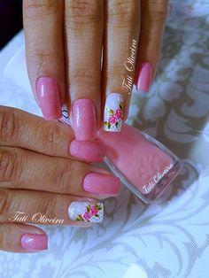 30 fotos de Unhas Bonitas decoradas em cor de rosa