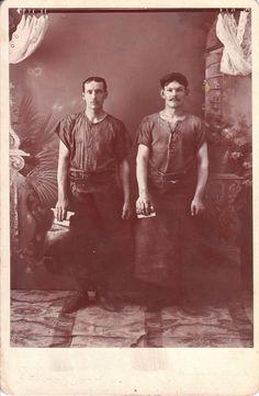 OCCUPATIONAL CABINET CARD PORTRAIT OF TWO MEN IN GORMANIA, WESTVIRGINIA