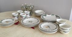 4 Four Place Dinner Service Pfaltzgraff by LalasCollections