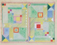 Female BAUHAUS designer | Benita Koch-Otte|  Doppelentwurf für den Kinderzimmerteppich 1923