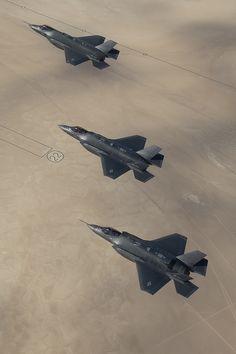 Three F-35As in flight by Lockheed Martin