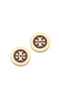 Tory Burch - Enamel Stud Earrings