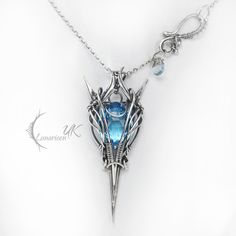 LINFILRNILH - silver and topaz by LUNARIEEN.deviantart.com on @deviantART