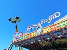 The classic Himalaya up against the modern day rides at the Florida State Fair #tampa #amusementpark #florida #fun