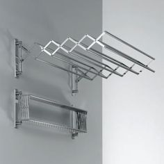 Decor Walther DW 700 pull-out towel rack or laundry dryer - above laundry tub or at end or shower over bath area Bath Towel Racks, Towel Rack Bathroom, Towel Rail, Drying Rack Laundry, Clothes Drying Racks, Clothes Hanger, Laundry Tubs, Laundry Dryer, Laundry Room