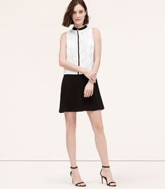 Primary Image of Petite Lace Contrast Dress