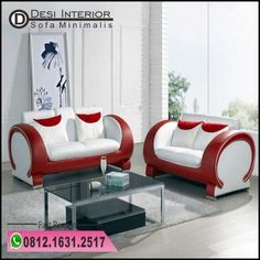 Red And White Sofa Set. This wonderful photo selections about Red And White Sofa Set is available to save. Retro Living Rooms, Living Room Red, Living Room Color Schemes, Living Room Sofa, Apartment Living, Minimalist Sofa, Modern Minimalist Living Room, Minimalist Apartment, White Sofa Set