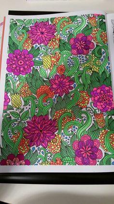 Uit Pretty Patterns met gelpennen van de action