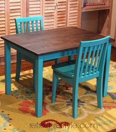 Awesome Kidu0027s Table And Chairs {refreshed
