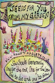 Seeds From My Garden. Like this for packets of my garden seeds & the quote for a stepping stone♥ Vintage Gardening, Organic Gardening, Gardening Tips, Lawn And Garden, Garden Art, Vintage Seed Packets, Little Gardens, Seed Catalogs, Garden Quotes