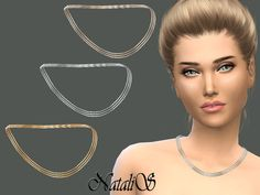 The Sims Resource: Triple Chain Necklace by NataliS • Sims 4 Downloads