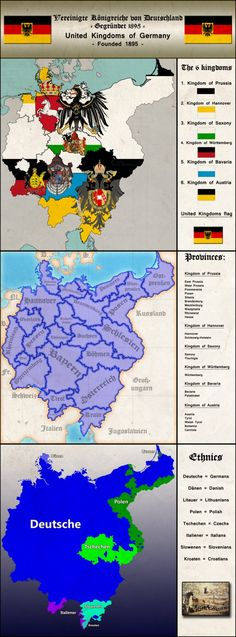 Another alternate history map...äähhh maps with a bit information^^ Download or zoom in to see everything well! The maps are in German, the information is mostly English, so you´ll u...