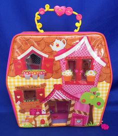 Mini Lalaloopsy Carry Along Playhouse Playset Case For Mini & Pet Excellent Cond #MGA
