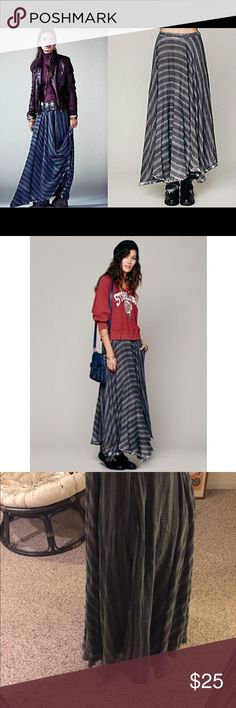 Free People maxi skirt Never worn. New without tags. Has pockets!!! Comfortable and versatile. Free People Skirts