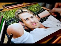 Colored pencil drawing of Paul Walker. Time-lapse video - YouTube