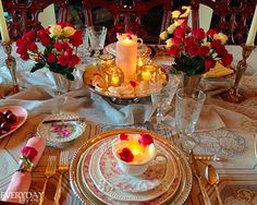 Tablescape Tuesday: Sweet & Simple • Everyday Living • Valentine Tablescape