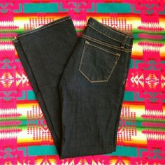 """J brand 918 Ink Lowrise Bootcut jeans They are a reposh! They are too tight for me, but they look soo nice on! There is a bit of fraying on the edge of the bottoms. It's really nothing though. If you search the style name and cut( 918 ink) you can find the pictures of them being modeled. As seen on Jessica Simpson! As for fit, I really don't know the brand all that well, but I'm a regular size 30 and they were just too tight. The rise is 8 1/2"""". The inseam is 33"""". The waist measured across…"""
